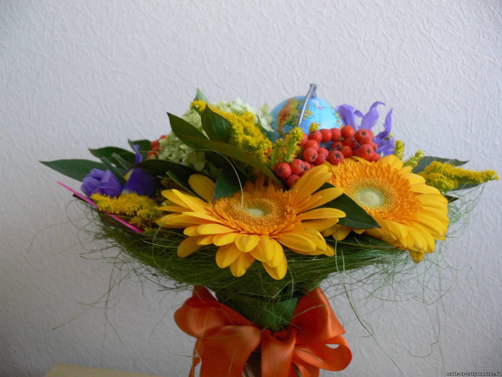 Букет из дачных цветов к 1 сентября своими руками. - Участок и сад 53